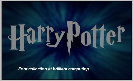 Harry Potter Book Cover Font : Brilliant computing harry potter font collection
