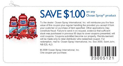 1 Ocean Spray offer is available for you.