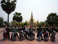 The Vientiane Riders Send Off from the Ancient Pha That Luang Stupa