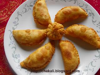 Diwali Faral, Karanjya, Olya Naralachya Karanjya, Coconut Karanji, Gujia, how to make karanji