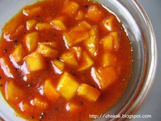 Mango Pickle, Sweet Mango Pickle, Ambyache Lonache, aamka achar, meetha achar recipe,aam aur gudh ka achara