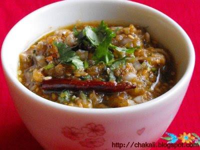Vangyache Bharit, Baingan Bharta, Eggplant bharta, Brinjal Bhurta