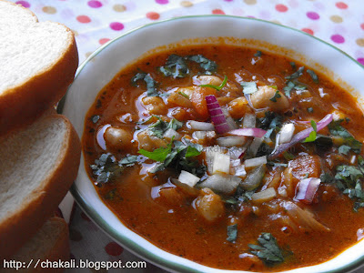 chana Masala, Fried chickpeas, curried Chickpeas, Legumes, Indian Spicy Legumes, Misal Pav, Kolhapuri Misal Pav, tikhat misal, mamledar misal, chole pav, chole bhature