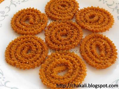 wheat flour chakli, kankechya chaklya, chakali recipe