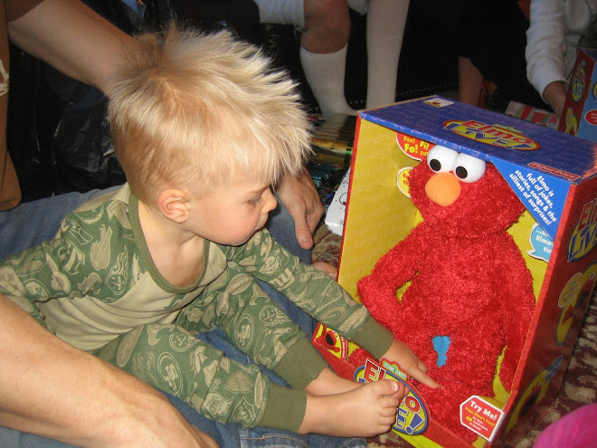 Grandma and Grandpa got him Elmo