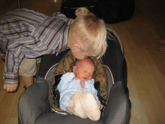 Kolton loves his baby brother