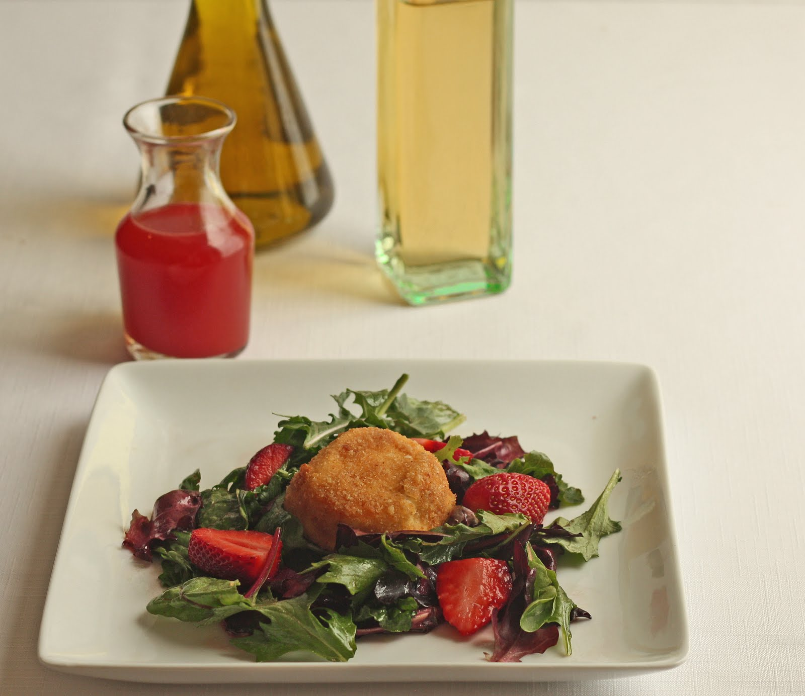 Baked Goat Cheese Salad with Strawberry Vanilla ...