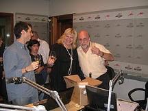 Silvia con Horacio Pagani en Radio Mitre