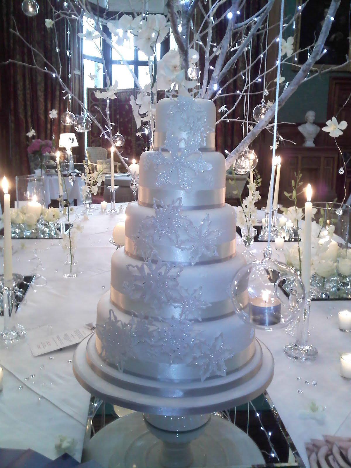 Blue Winter Wonderland Wedding Cakes Viewing Gallery