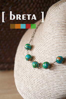 elpy's breta necklace in teal