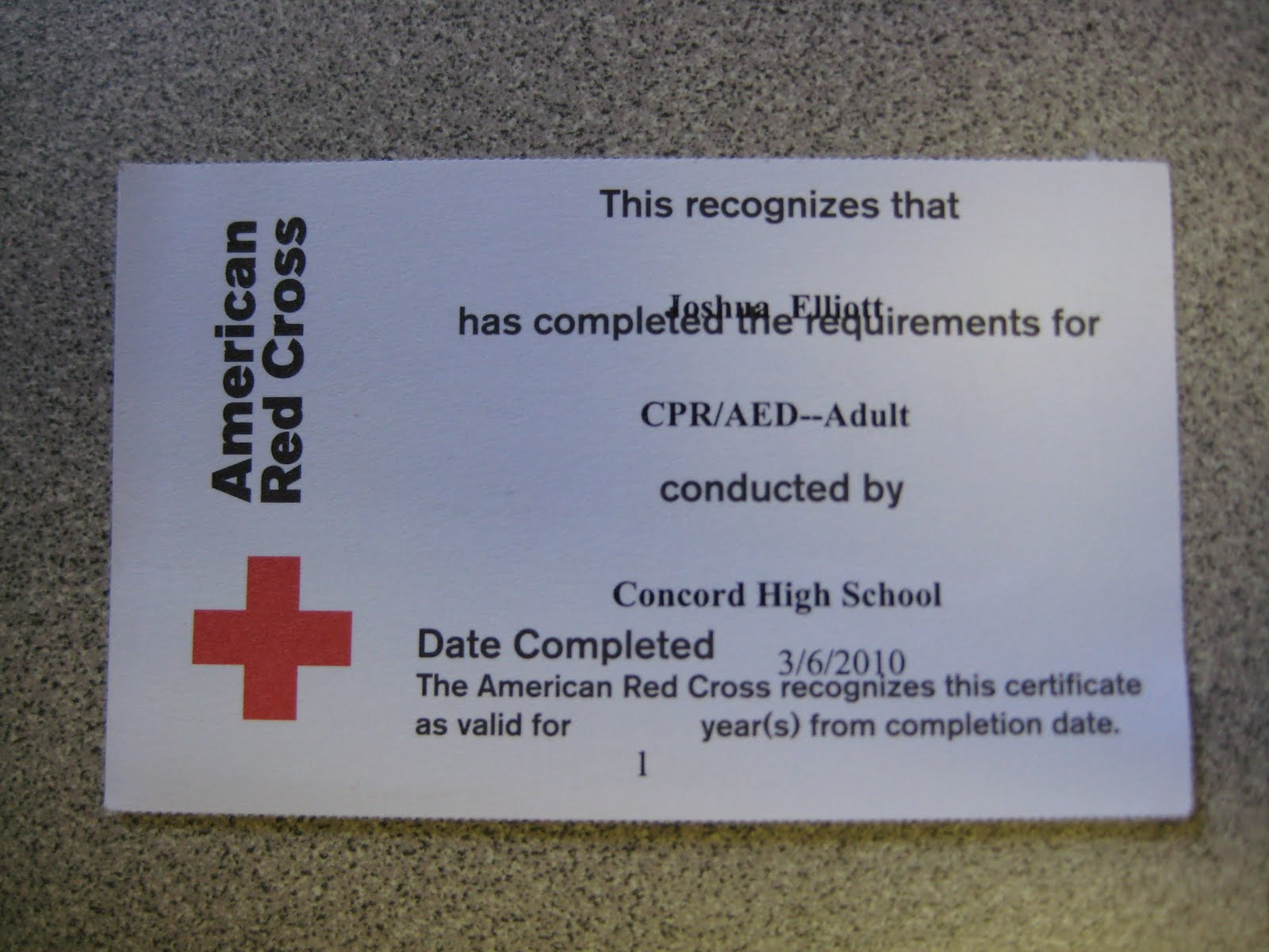 Fire graduation project received red cross cpr first aid received red cross cpr first aid certification cards xflitez Gallery