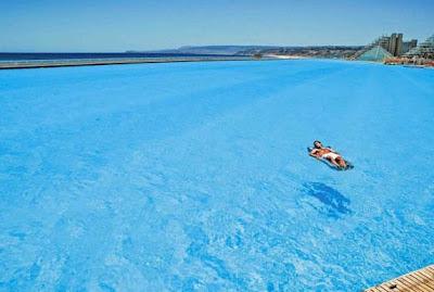 World most amazing places world 39 s largest swimming pool for Largest swimming pool in the world in chile