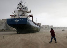 Ship Stuck in Sand