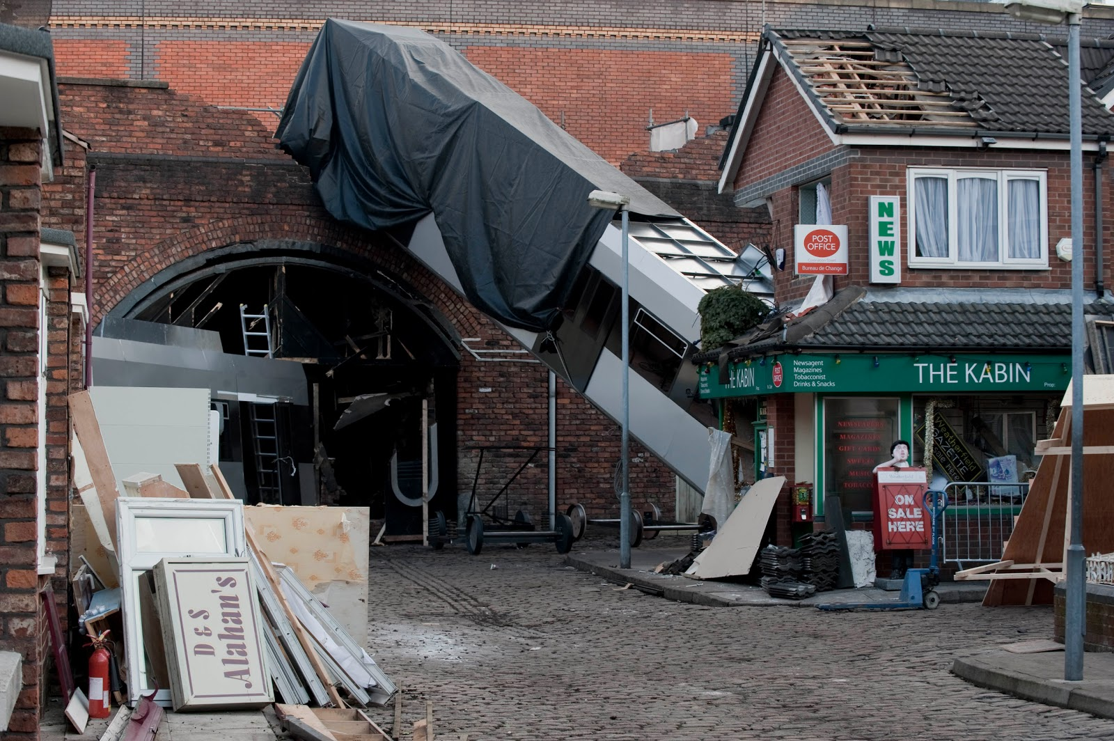 Coronation Street David Car Crash