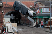 . a Metrolink tram smashed into The Kabin newsagent on Coronation Street, .