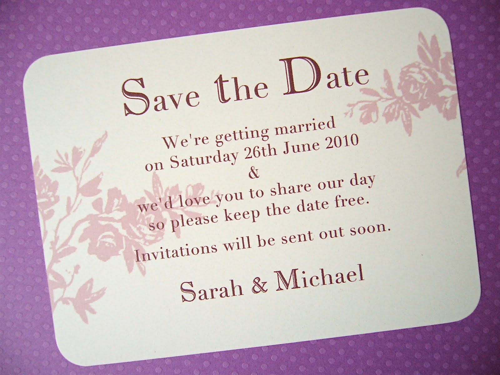 Arbee Vintage Wedding Craft Blog Save The Date For Our Brand New Car