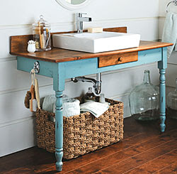 Of Things Past Repurposing Furniture Into Bathroom Vanities