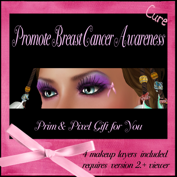 GIFT Breast Cancer Awareness Makeup Tattoos @ Prim & Pixel