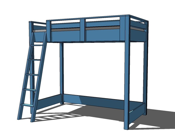 Woodworking free loft bed plans twin PDF Free Download
