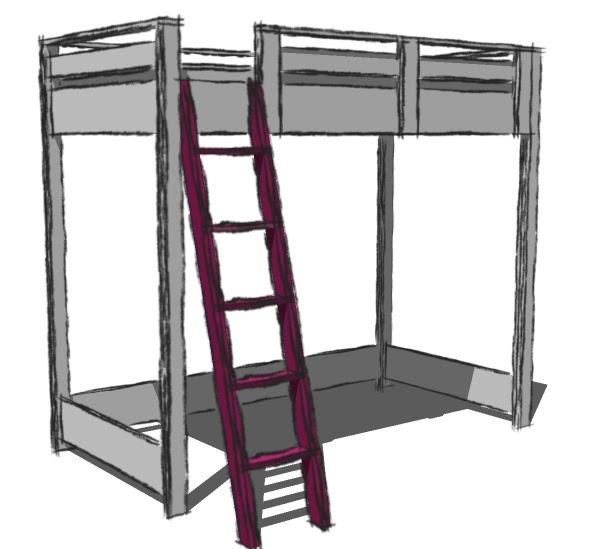 David easy loft bed plans home depot wood plans us uk ca for Loft kits home depot