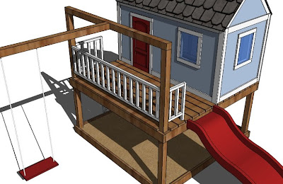 build your own wooden playhouse plans