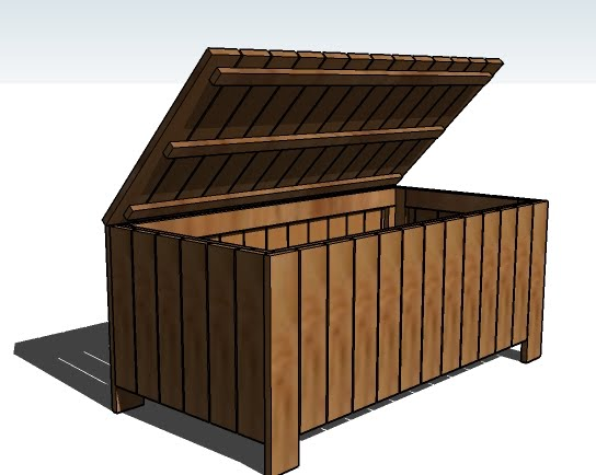Build Outdoor Storage Bench Quick Woodworking Projects
