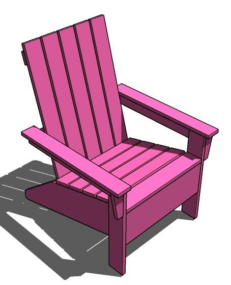 isau diy modern adirondack chair. Black Bedroom Furniture Sets. Home Design Ideas