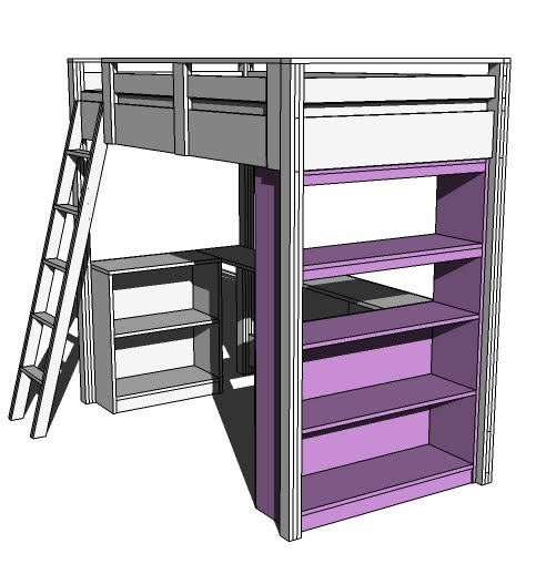 ana white what goes under the loft bed how about a big. Black Bedroom Furniture Sets. Home Design Ideas
