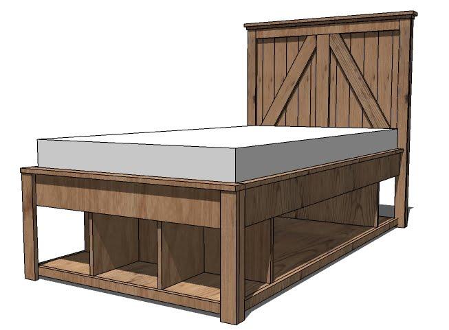 DIY Storage Bed Frame Plans