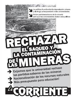 Rechazar el saqueo y la contaminación de las mineras