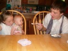 Seth feeding Leah