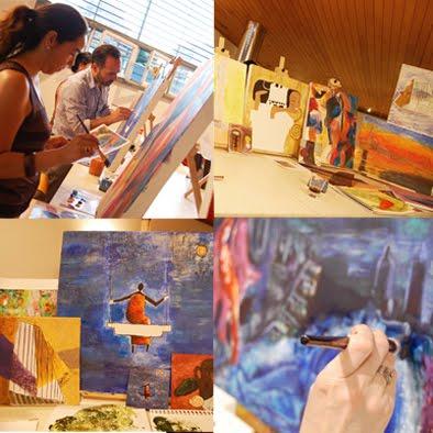 Imagenes taller pintura segundo semestre 2009