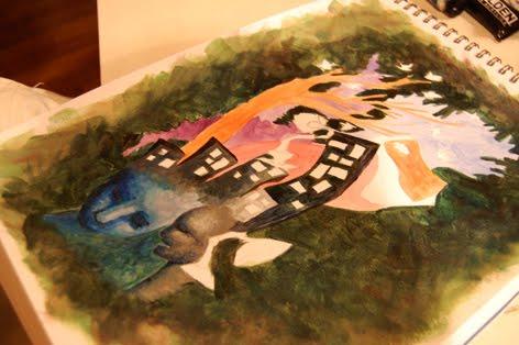 Ilustración de Paula Montalbán en proceso