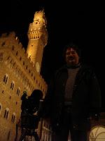 Ecco la prova che sabato 4 aprile 2009 ho portato il telescopio in Piazza della Signoria a Firenze!