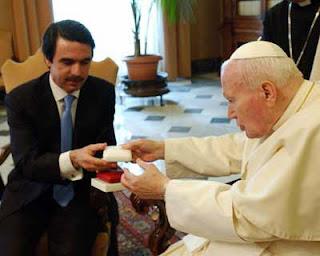 Aznar con el papa Juan Pablo II