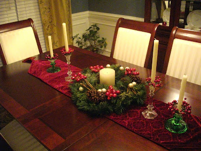 Sherri 39 s jubilee november 2008 for Christmas decorating ideas for dining room table