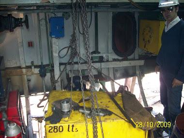Replanteo de sala de maquinas para oxicorte de casco