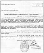 Certificado de Hidrocarburo.