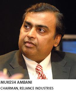 MUKESH AMBANI CHAIRMAN, RELIANCE INDUSTRIES