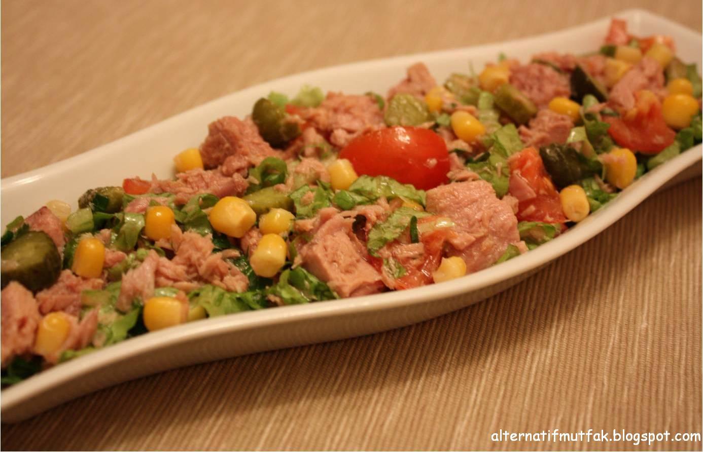 Ton Balıklı Diyet Salata