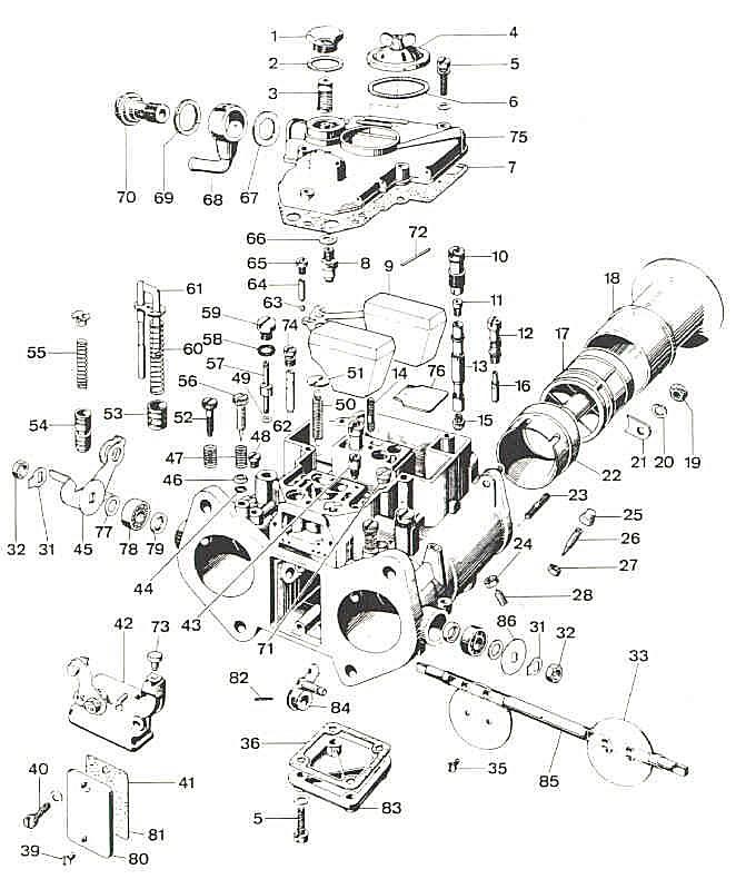 ajuste de motor  despiece carburador weber 40 dcoe