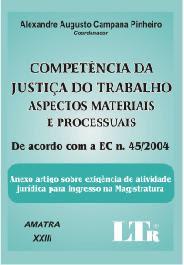 LIVRO: COMPETÊNCIA DA JUSTIÇA DO TRABALHO