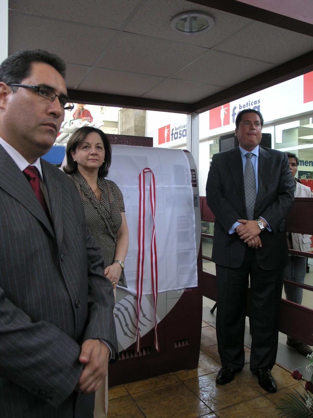 Informativo registral sunarp inaugur primer cajero for Busqueda de cajeros