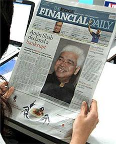 Amin Shah declared Bankrupt