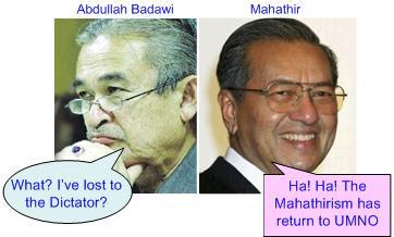 Badawi lost to Mahathir