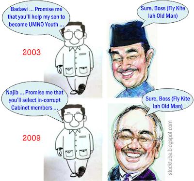 Mahathir Najib Badawi promises