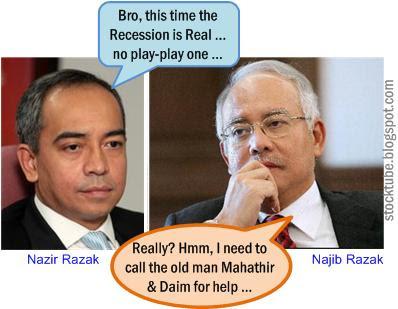 Nazir Najib Razak Real Recession