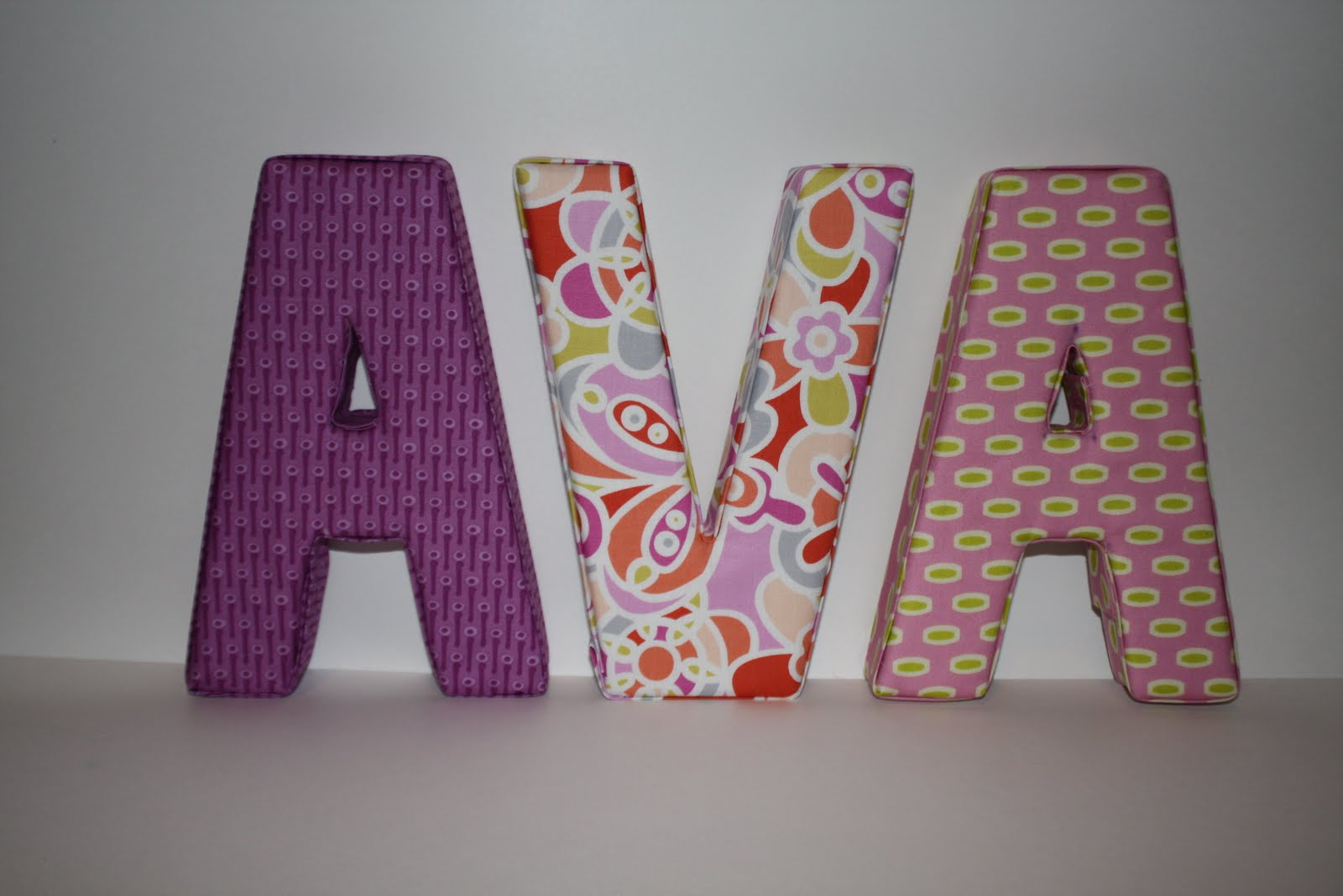 well my stars fabric covered padded letters a tutorial
