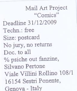 Silvano Pertone Mail Art Project