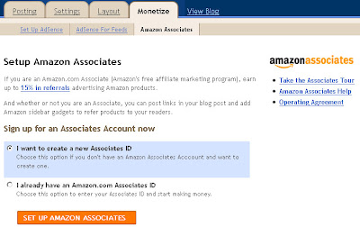 Blogger.com Jadi Affiliate Partner Amazon | Associates | Monetize |